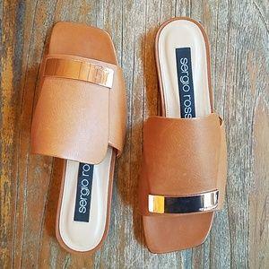 NWOB Sergio Rossi flat slide sandal